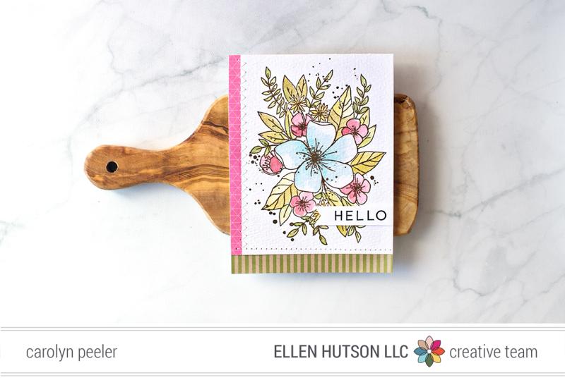 Hello ink week card by Carolyn Peeler
