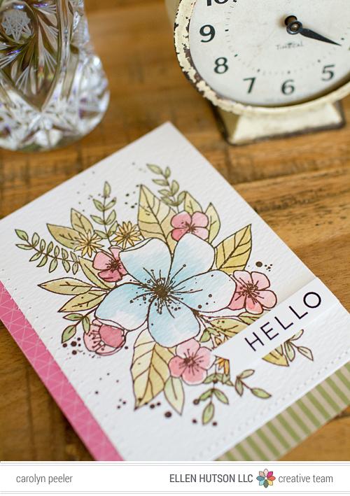 Hello ink week card view 2 by Carolyn Peeler