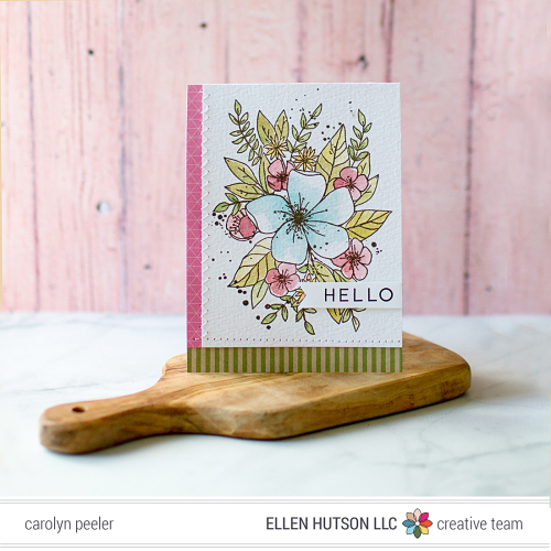Hello ink week card 3 by Carolyn Peeler
