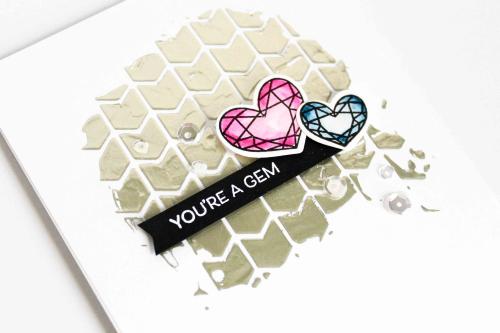 Justice for Girls Turquoise Love Peace Gem Foil Embellished Tank Top