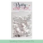 Pretty Pink Posh Sparkling Clear Confetti