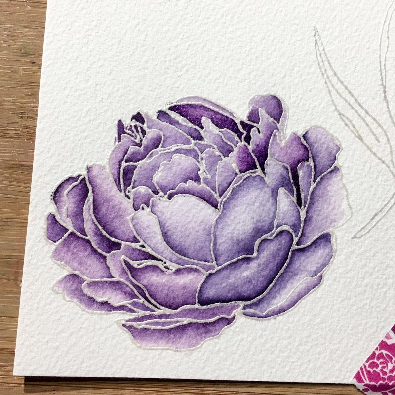 EH purple peony step 1