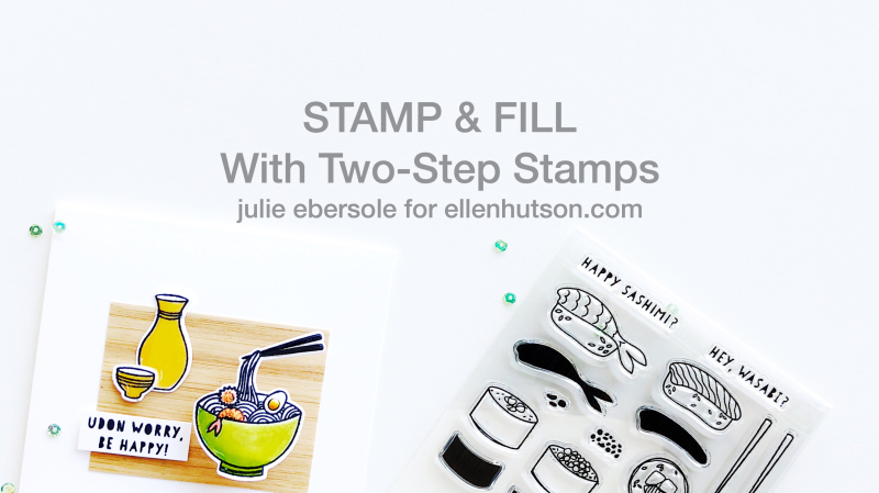 Stamp fill video title page