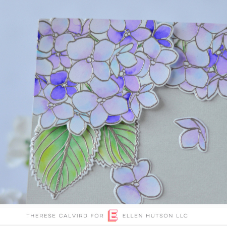 Ellen Hutson Color Trend Floral Fantasies May 2018 - Mondo Hydrangea - Therese Calvird (card video) 2 copy