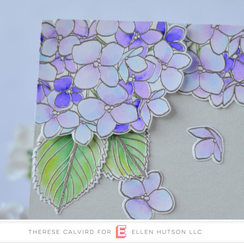 Ellen Hutson Color Trend Floral Fantasies May 2018 - Mondo Hydrangea - Therese Calvird (card video) 2 copy