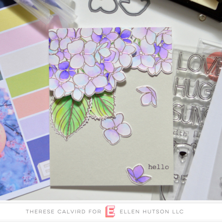 Ellen Hutson Color Trend Floral Fantasies May 2018 - Mondo Hydrangea - All Inside - Therese Calvird (card video) thumbnail - Copy -